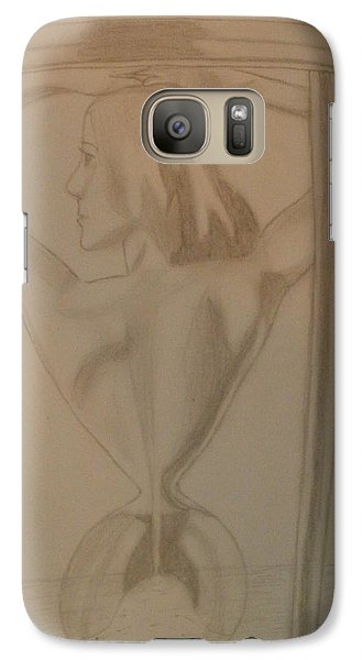 Galaxy Case featuring the drawing Days Of Our Lives by Thomasina Durkay