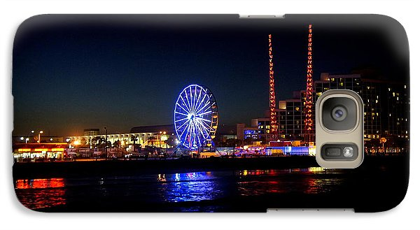 Galaxy Case featuring the photograph Daytona At Night by Laurie Perry