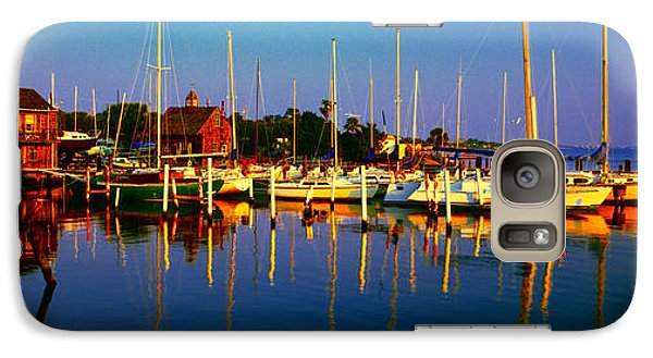 Galaxy Case featuring the photograph Daytona Beach Florida Inland Waterway Private Boat Yard With Bird   by Tom Jelen