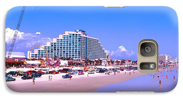 Galaxy Case featuring the photograph Daytona Main Street Pier And Beach  by Tom Jelen