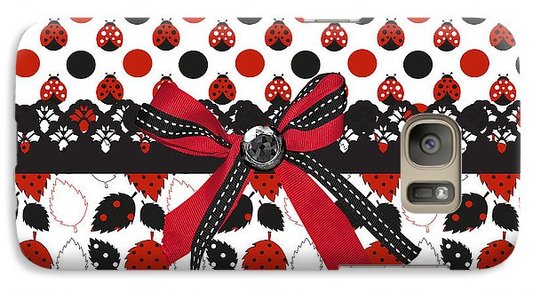 Dazzling Ladybugs  Galaxy Case by Debra  Miller