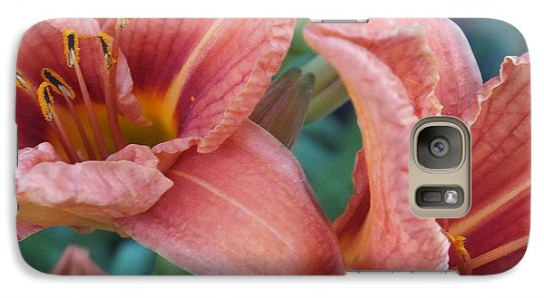 Galaxy Case featuring the photograph Dazzling Lilies by Gene Cyr