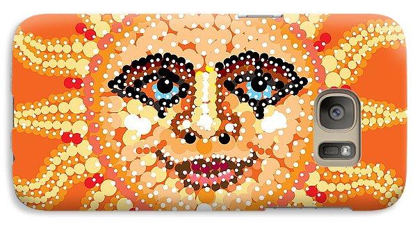Galaxy Case featuring the digital art Dazzling Sun by R  Allen Swezey