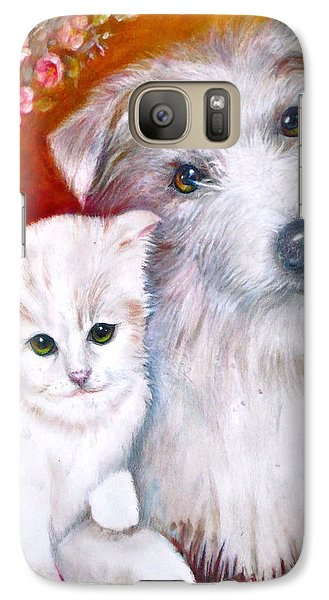 Galaxy Case featuring the painting Db And  Some Sugar by Patricia Schneider Mitchell