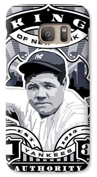 Dcla Babe Ruth Kings Of New York Stamp Artwork Galaxy Case by David Cook Los Angeles