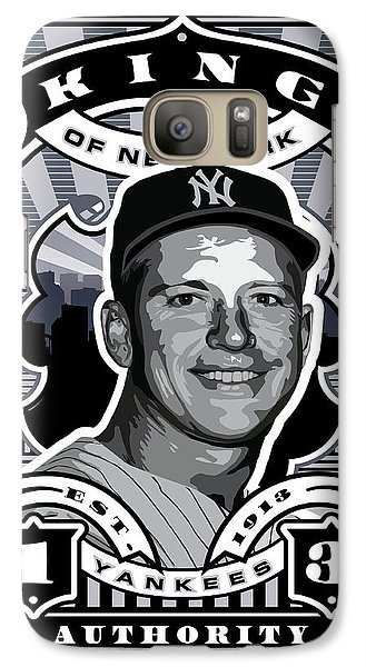Dcla Mickey Mantle Kings Of New York Stamp Artwork Galaxy Case by David Cook Los Angeles