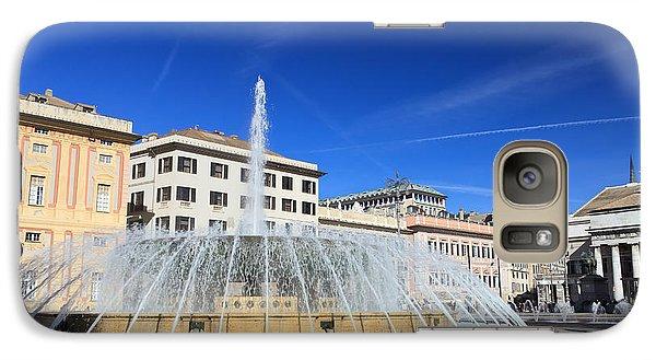Galaxy Case featuring the photograph De Ferrari Square - Genova by Antonio Scarpi