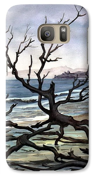 Galaxy Case featuring the painting Dead Sea Inhabitant by Mikhail Savchenko