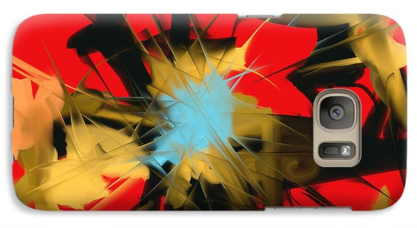 Galaxy Case featuring the digital art Deadly Fight by Martina  Rathgens