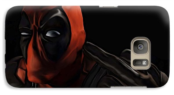 Galaxy Case featuring the painting Deadpool by Jeff DOttavio