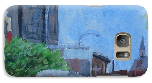 Galaxy Case featuring the painting Dean St And Nostrand Ave by Tu-Kwon Thomas