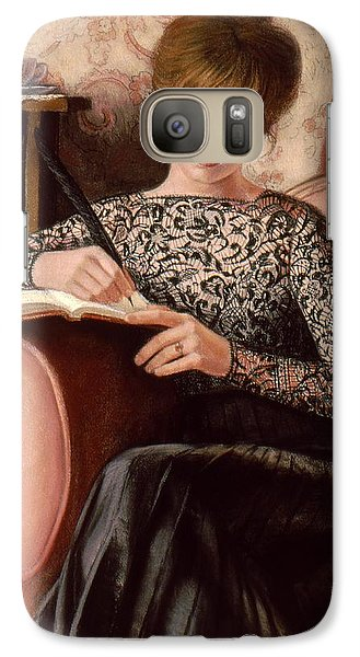 Galaxy Case featuring the painting Dear Diary by Sue Halstenberg