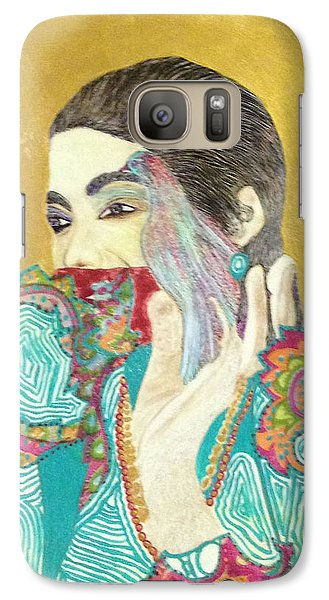 Galaxy Case featuring the painting Dearest Farah Pahlavi by Sima Amid Wewetzer