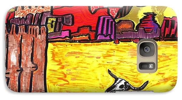 Galaxy Case featuring the drawing Death Valley by Don Koester