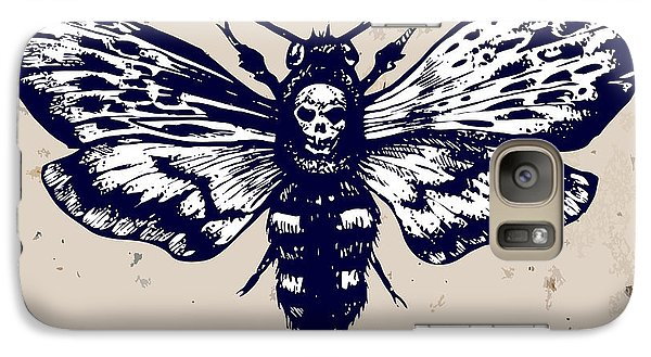 Magician Galaxy S7 Case - Deaths-head Hawkmoth. Hand Drawn Vector by Inna Sinano