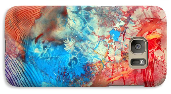 Galaxy Case featuring the painting Decalcomaniac Colorfield Abstraction Without Number by Otto Rapp