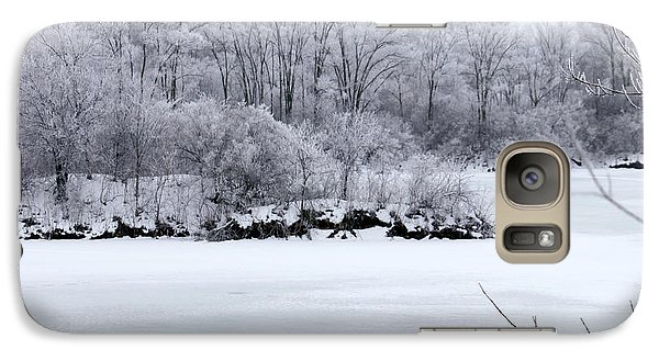 Galaxy Case featuring the photograph December Lake by Debbie Hart