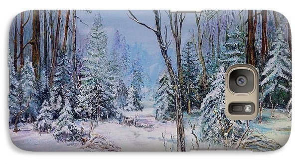 Galaxy Case featuring the painting December Light by Iya Carson