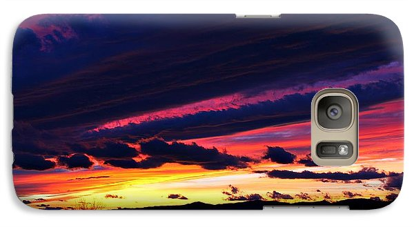 Galaxy Case featuring the photograph December Sunset by Candice Trimble
