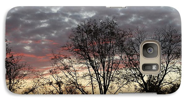 Galaxy Case featuring the photograph December Sunset by Ramona Whiteaker