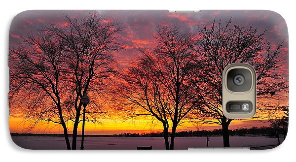 Galaxy Case featuring the photograph December Sunset by Terri Gostola