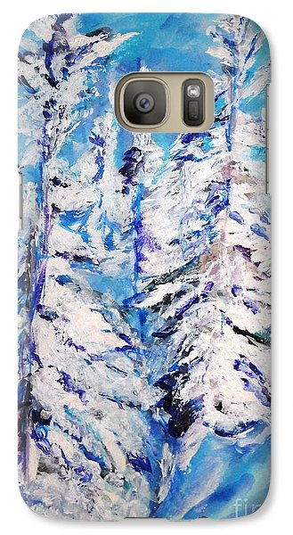 Galaxy Case featuring the painting December's Solitude by Helena Bebirian