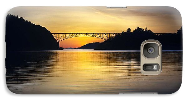 Galaxy Case featuring the photograph Deception Pass Bridge by Sonya Lang