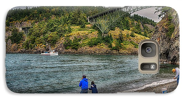 Galaxy Case featuring the photograph Deception Pass by Kelly Reber