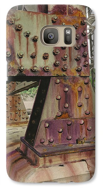 Galaxy Case featuring the painting Declining Infrastructure by Ferrel Cordle