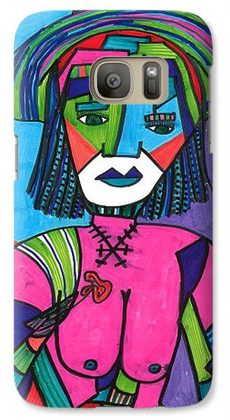 Galaxy Case featuring the drawing Deco Diva by Don Koester