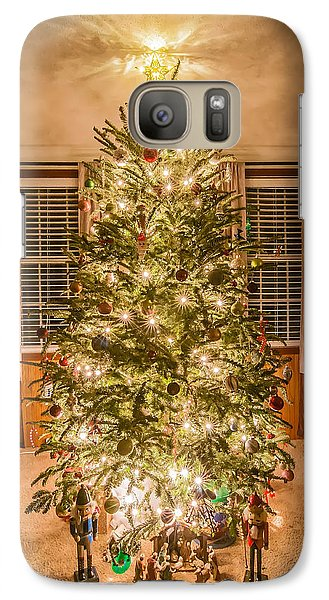 Galaxy Case featuring the photograph Decorated Christmas Tree by Alex Grichenko