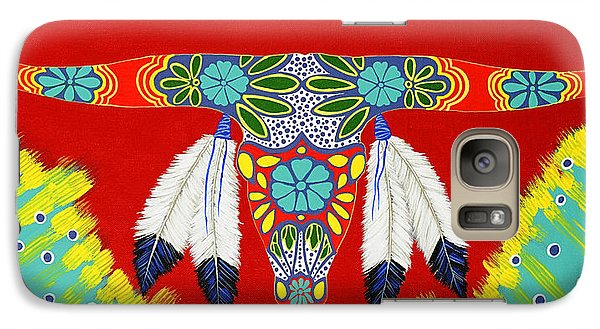 Galaxy Case featuring the painting Longhorn by Debbie Chamberlin