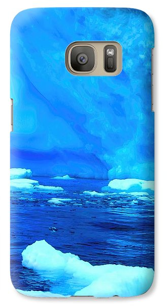 Galaxy Case featuring the photograph Deep Blue Iceberg by Amanda Stadther