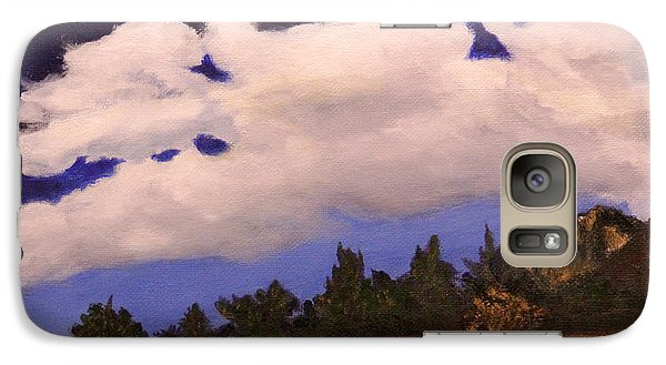 Galaxy Case featuring the painting Deep Blue Sky by Janet Greer Sammons