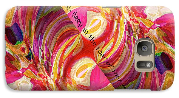Galaxy Case featuring the digital art Deep Calls Unto Deep by Margie Chapman