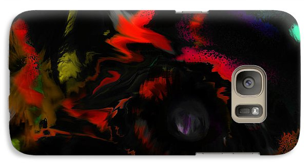 Galaxy Case featuring the digital art Deep Impact by Martina  Rathgens