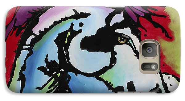 Galaxy Case featuring the painting Deep Red Bells by Nicole Gaitan