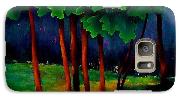 Galaxy Case featuring the painting Deep Shadows by Karin Eisermann