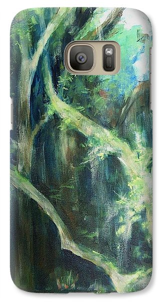 Galaxy Case featuring the painting Deep Woods by Mary Lynne Powers