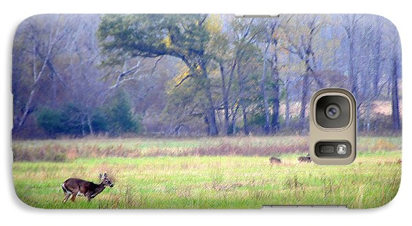 Galaxy Case featuring the photograph Deer At Cades Cove by Kenny Francis