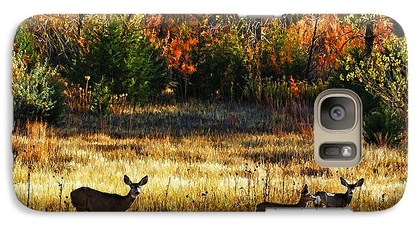 Galaxy Case featuring the photograph Deer Autumn by Bill Kesler