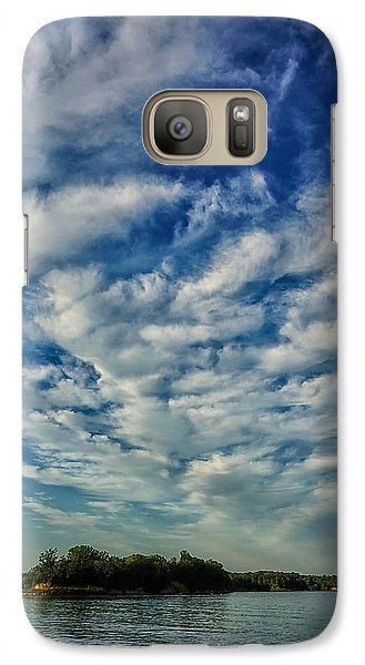 Galaxy Case featuring the photograph Deer Creek Lake And Clouds by Beth Akerman