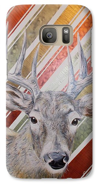 Galaxy Case featuring the painting Deer Deco by PainterArtist FINs husband