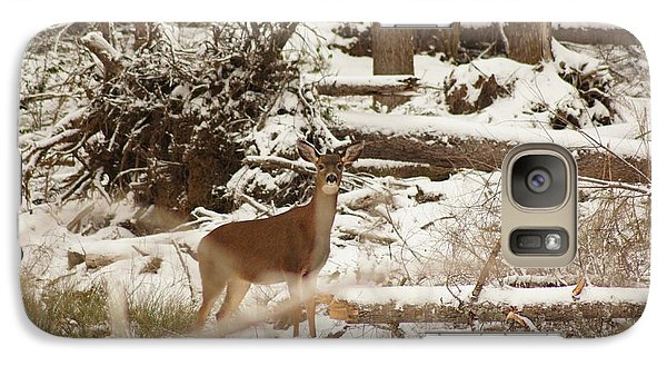 Galaxy Case featuring the photograph Deer In Snow by Angi Parks