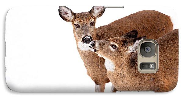 Deer Kisses Galaxy Case by Karol Livote