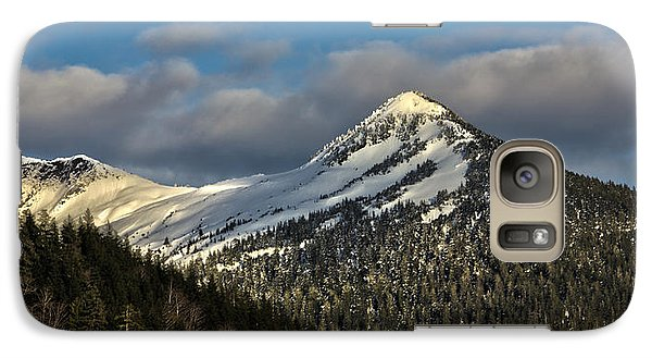 Galaxy Case featuring the photograph Deer Mountain With Last Winters Snow. by Timothy Latta