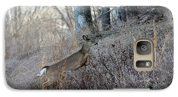 Galaxy Case featuring the photograph Deer Moving Upward by Lorna Rogers Photography