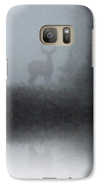 Galaxy Case featuring the photograph Deer Reflecting by Diane Alexander