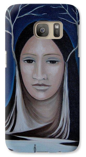 Galaxy Case featuring the painting Deer Woman  by Tone Aanderaa