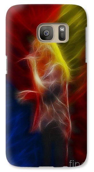 Def Leppard-adrenalize-joe-ga25-fractal Galaxy S7 Case by Gary Gingrich Galleries